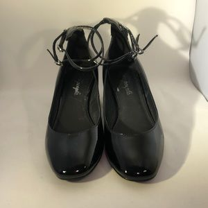 Free People Lana Black Patent Shoes Size 8